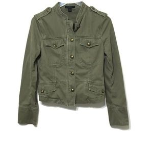 Express Olive Green Military Jacket M